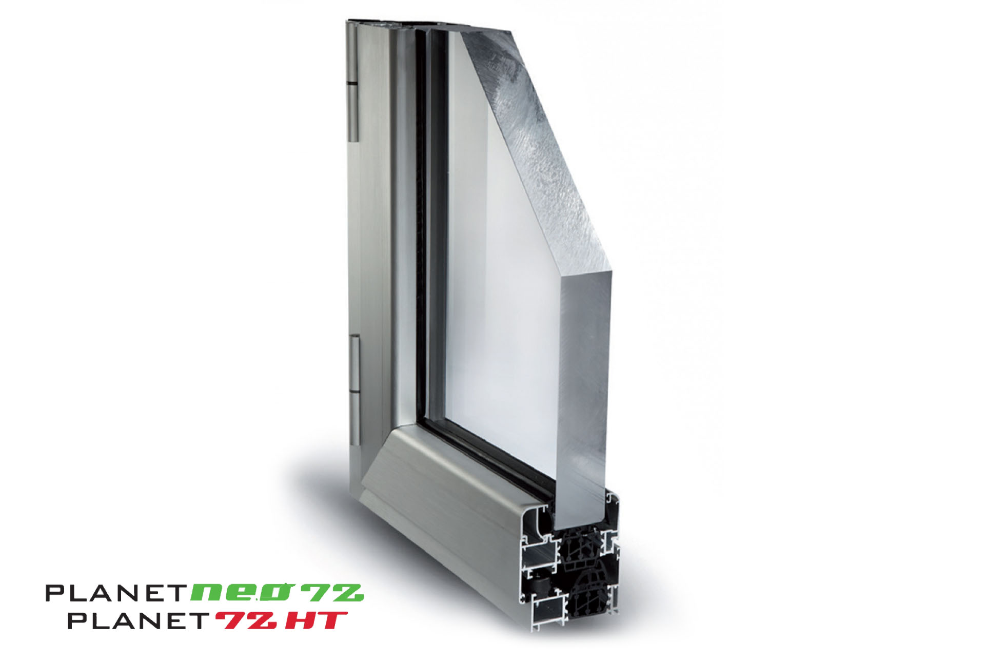 Planet 72HT profili alluminio a taglio termico